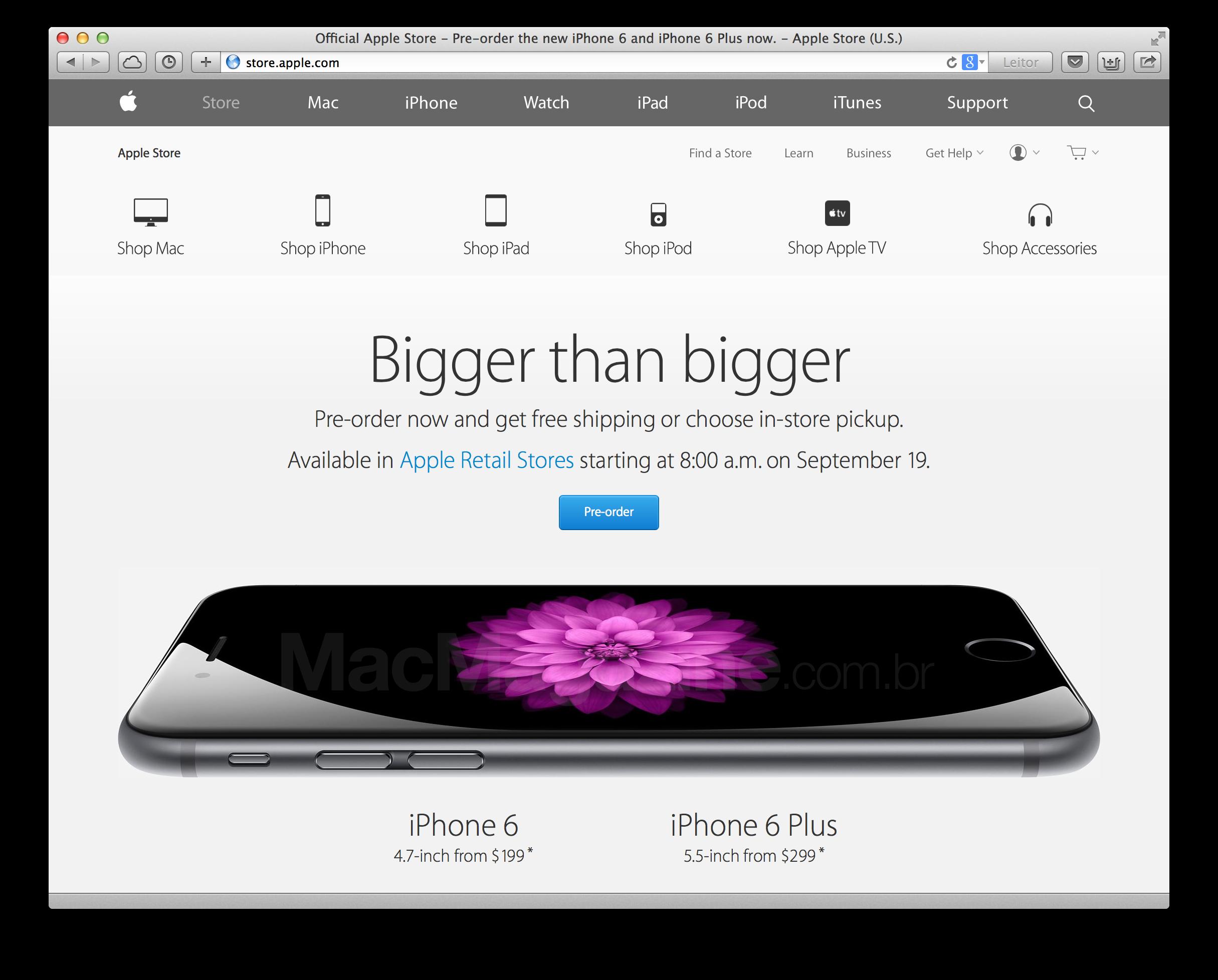 Pré-venda dos novos iPhones