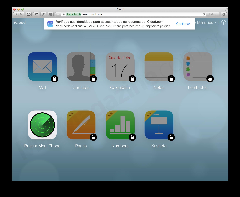 Verificação em dois passos no iCloud