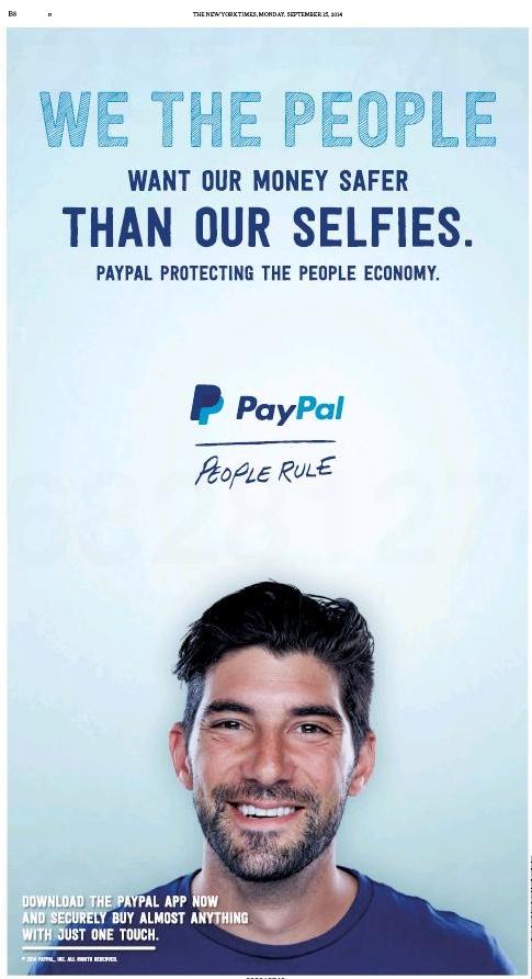 Anúncio do PayPal