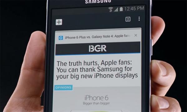 ↪ Samsung não se aguenta e diz que Apple copiou o Galaxy Note 4 com o iPhone 6 Plus   MacMagazine.com.br
