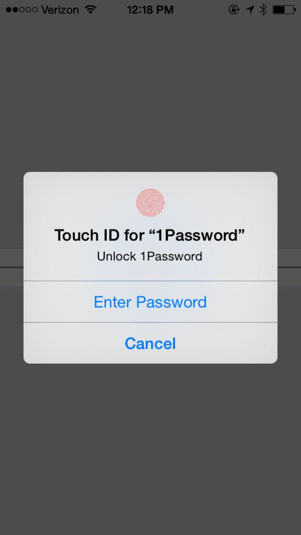 1Password para o iOS 8
