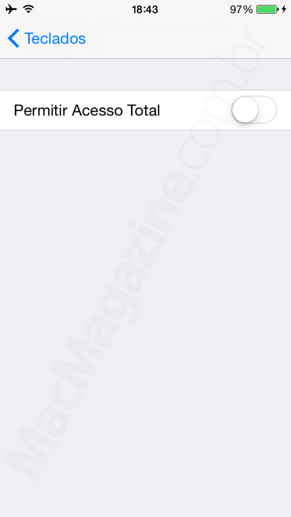 Teclado de terceiros no iOS 8