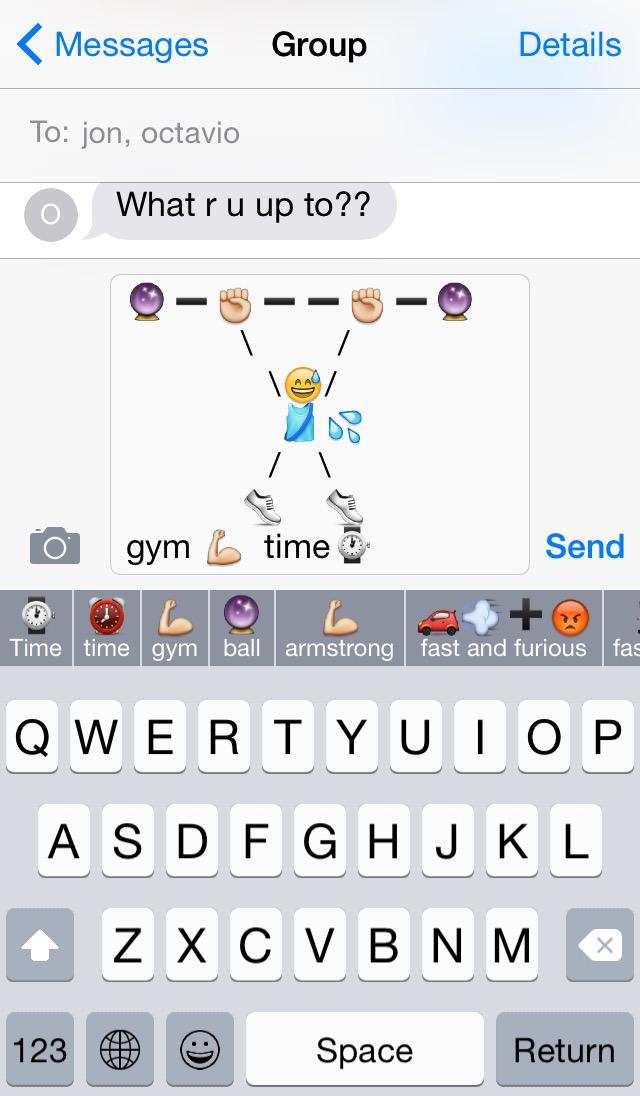 Teclado Keymoji para iOS