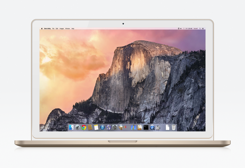 Conceito de MacBook dourado