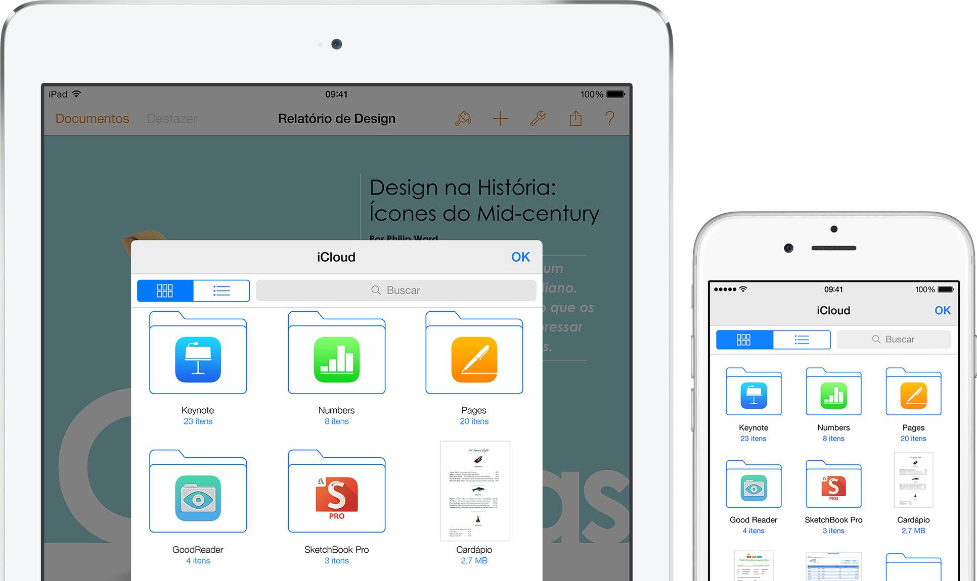 iCloud Drive em iPad e iPhone