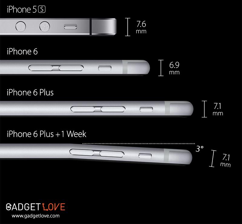 iPhone 6 entortado
