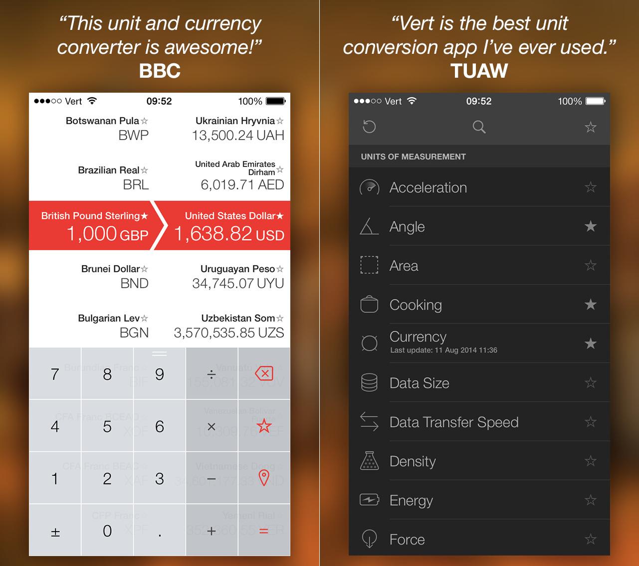 App Vert para iOS