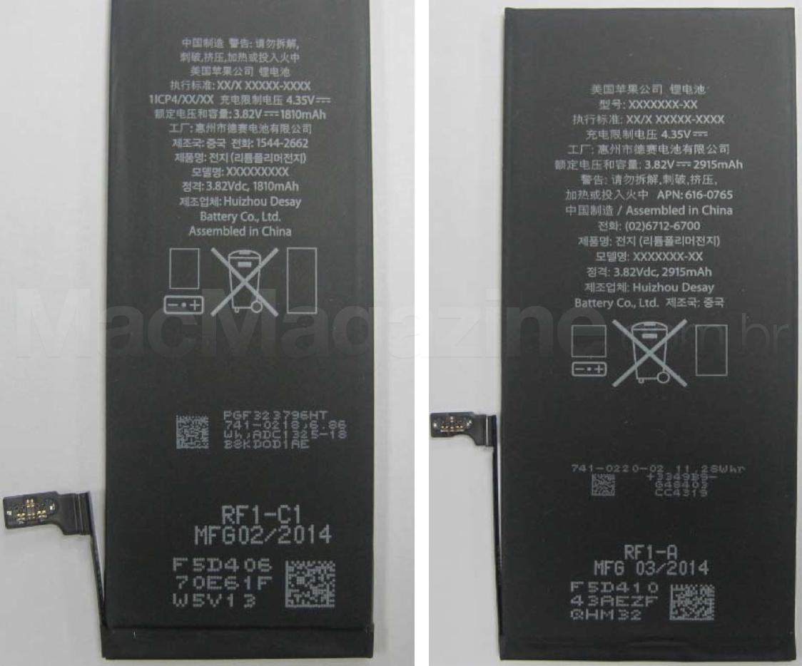 Baterias dos iPhones 6 e 6 Plus na Anatel