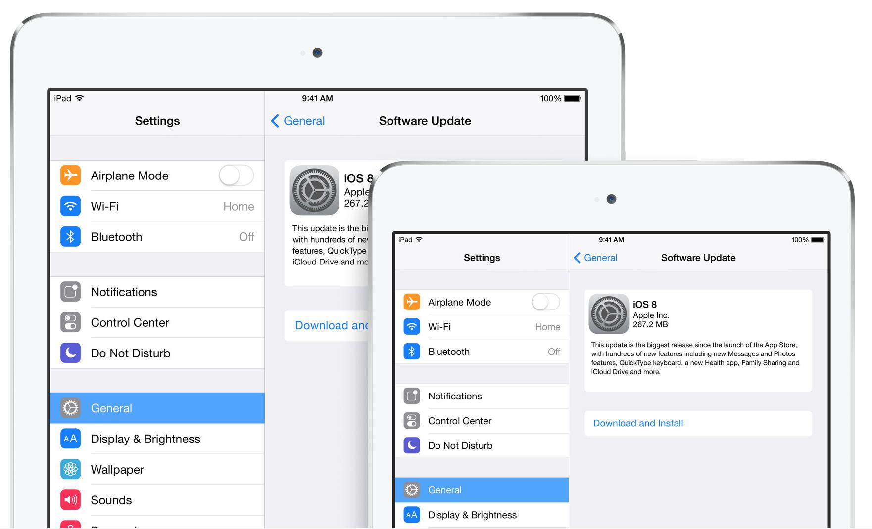 Atualização para o iOS 8
