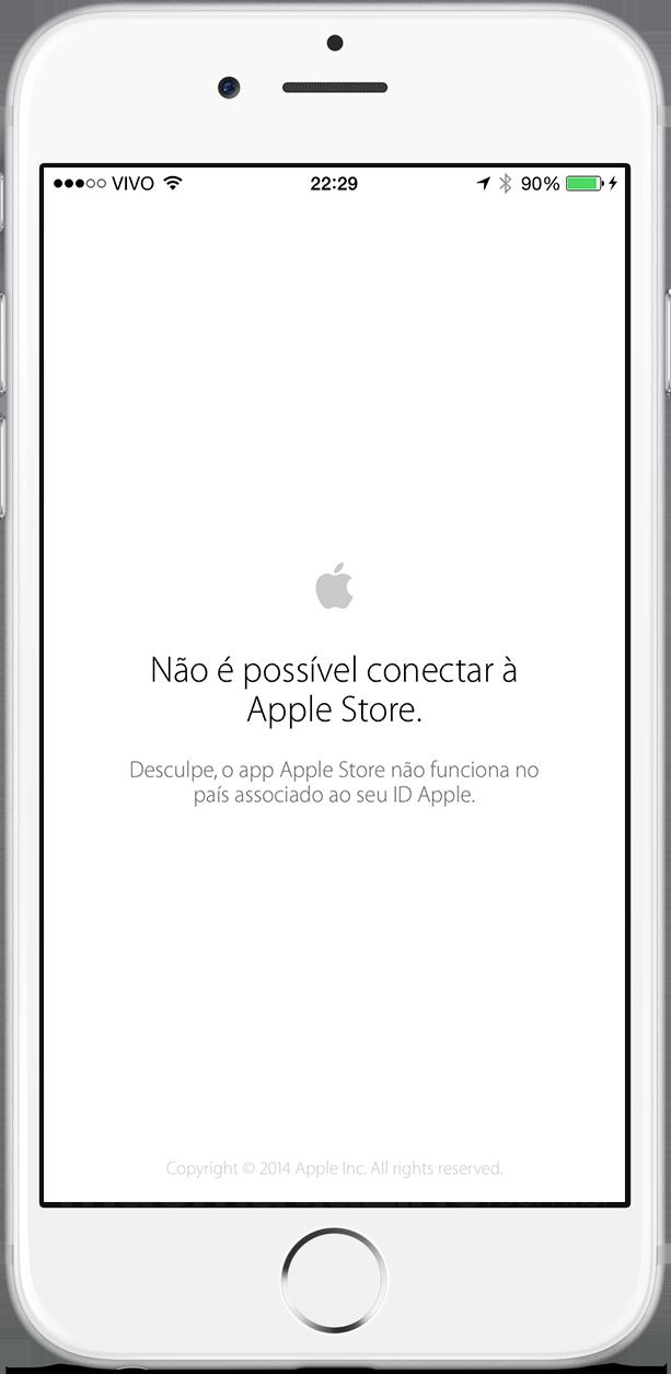 Apple Store não funciona no Brasil