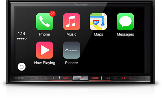 Apple CarPlay em sistema da Pioneer