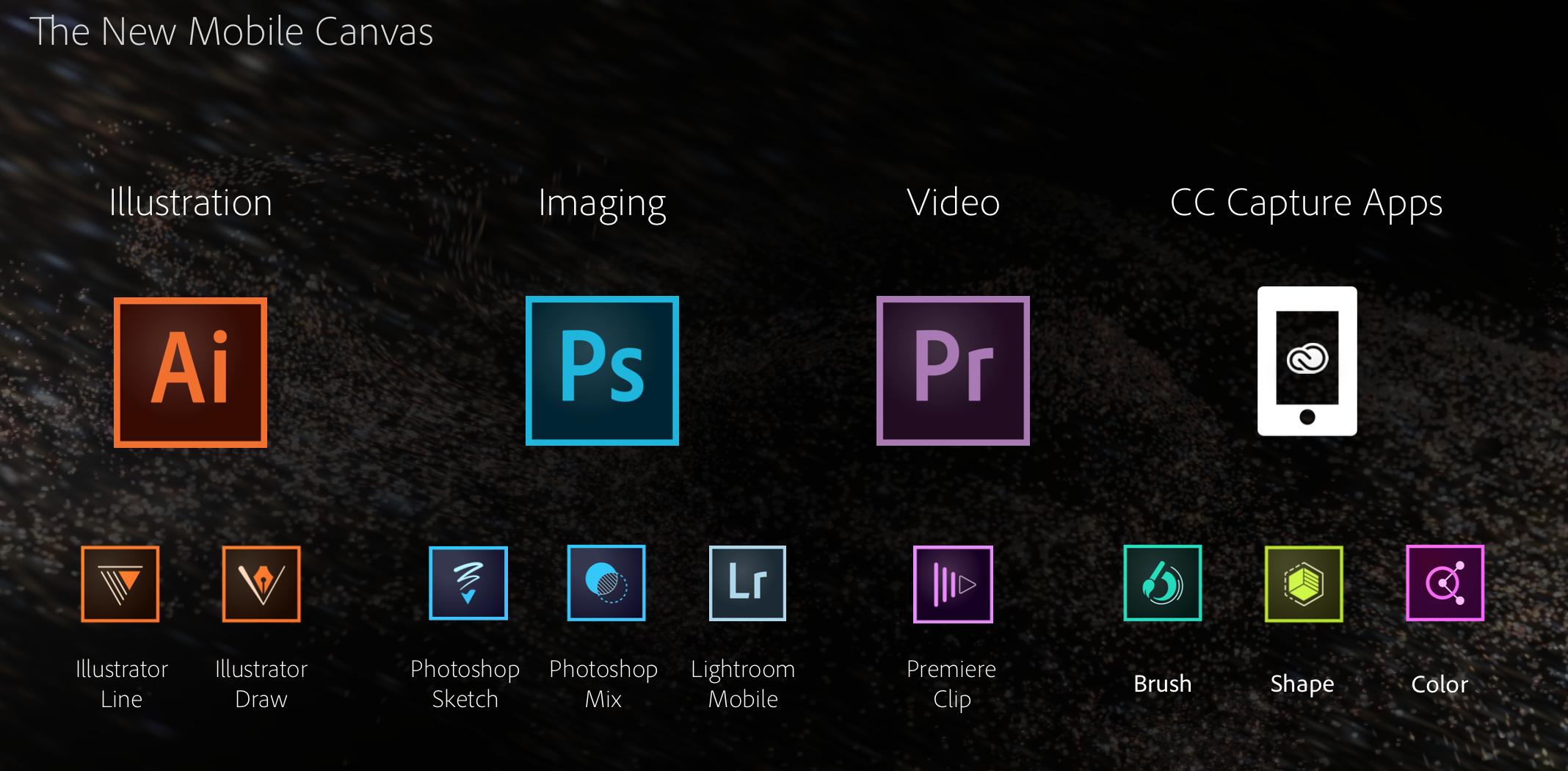 Novos apps da Adobe para iOS