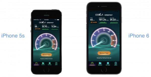 Comparativo - LTE de iPhones
