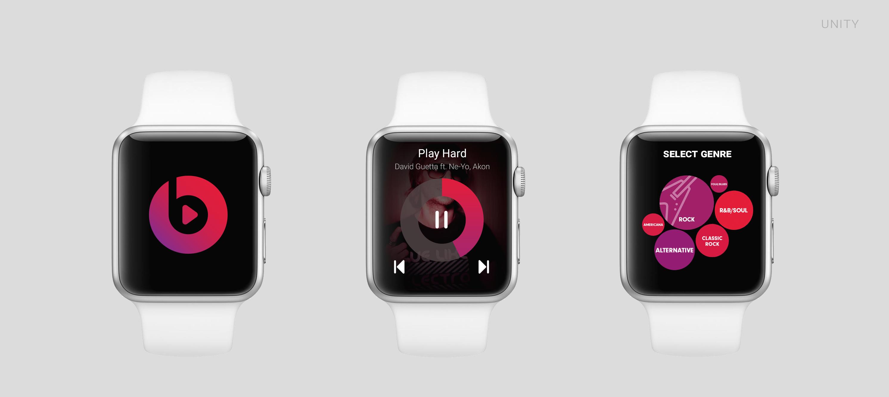 Conceito de app para o Apple Watch - Beats