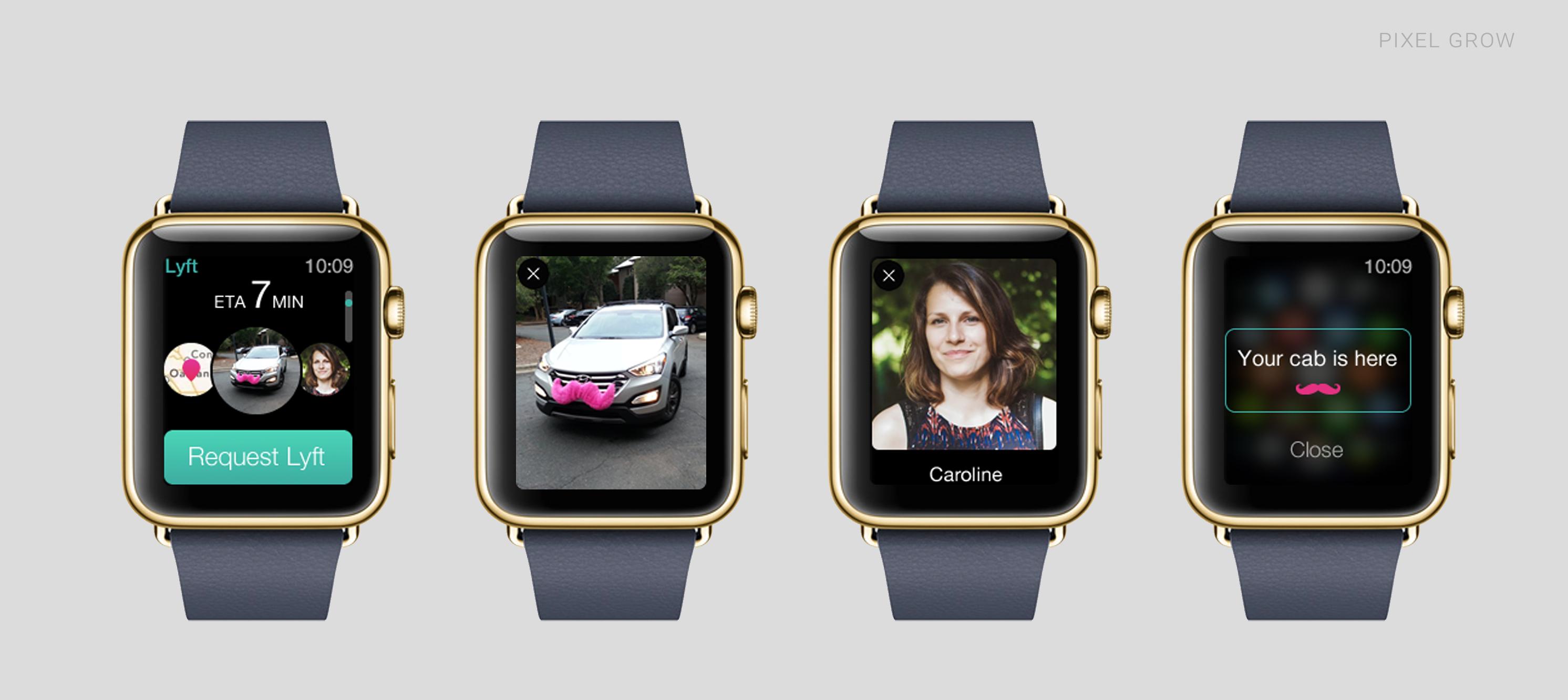 Conceito de app para o Applw Watch - Lyft