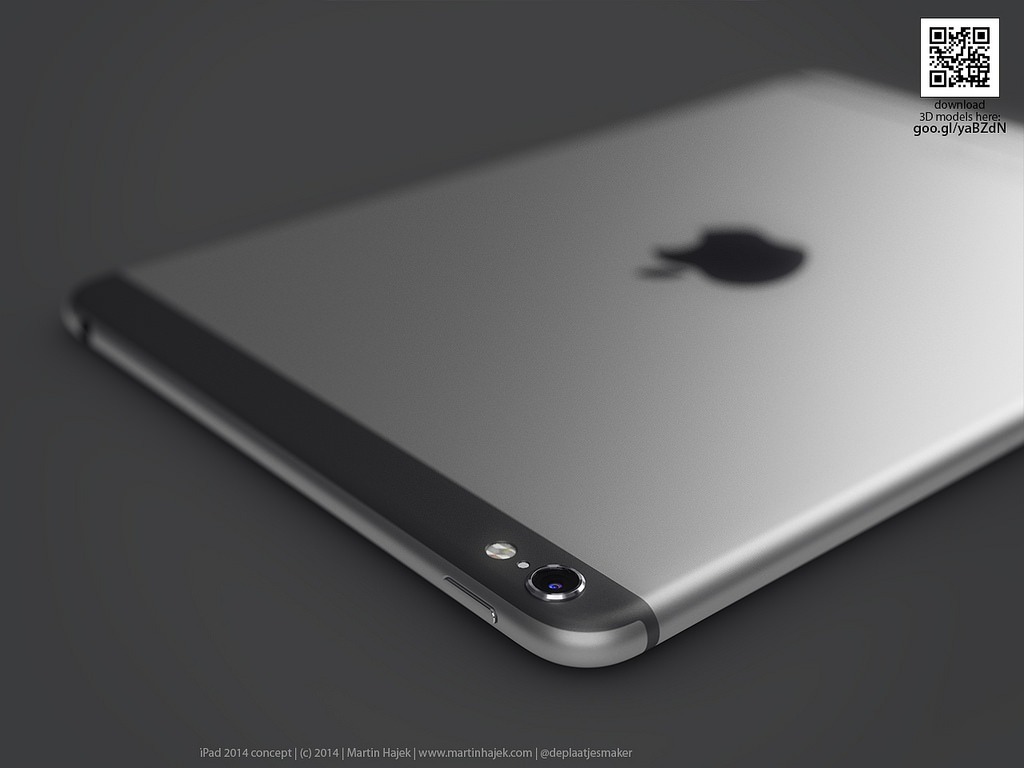 Conceito de iPads com visual do iPhone 6