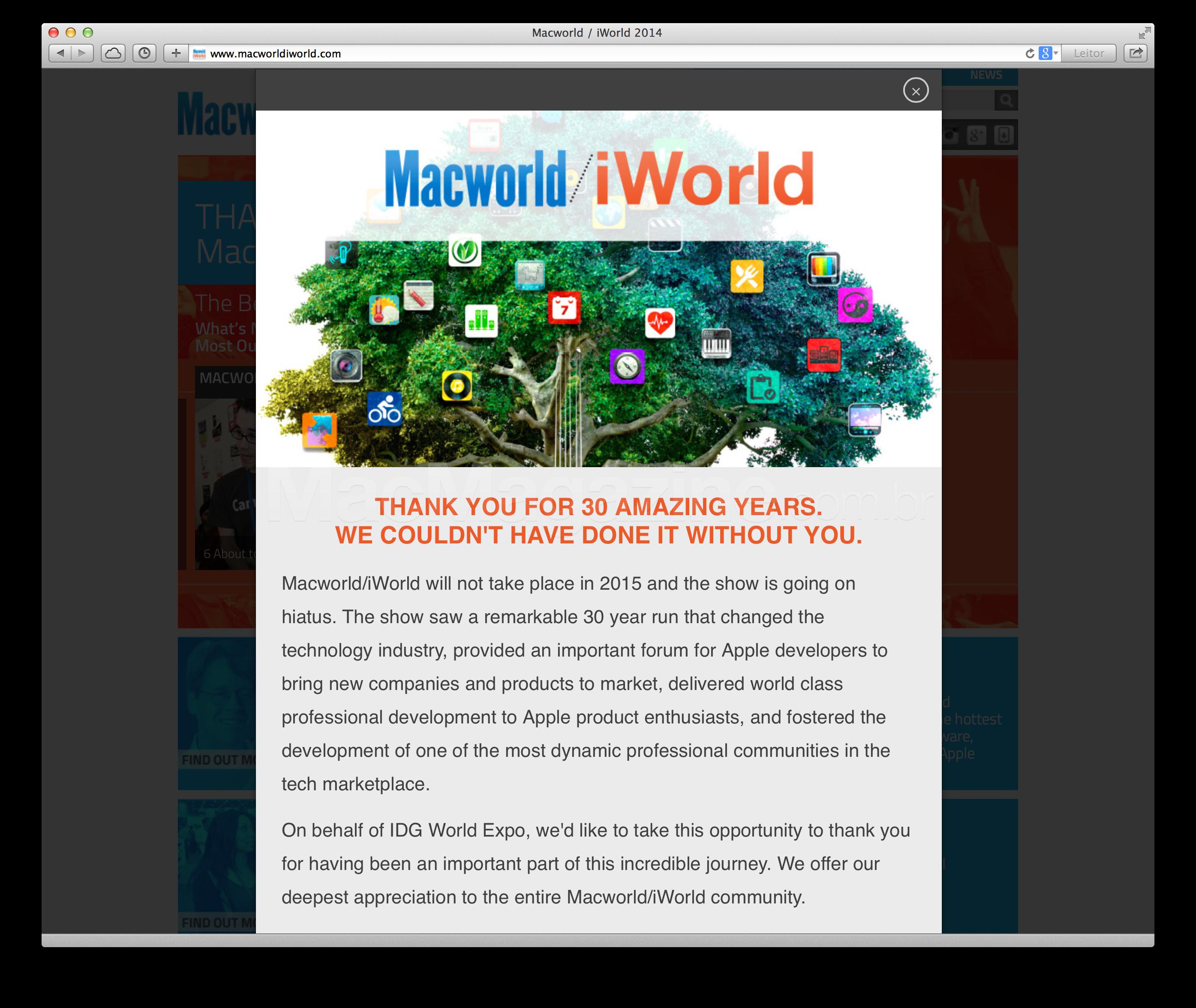 Fim da Macworld/iWorld