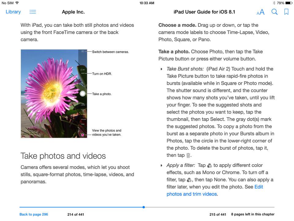 Manual do iPad Air 2 e do iPad mini 3