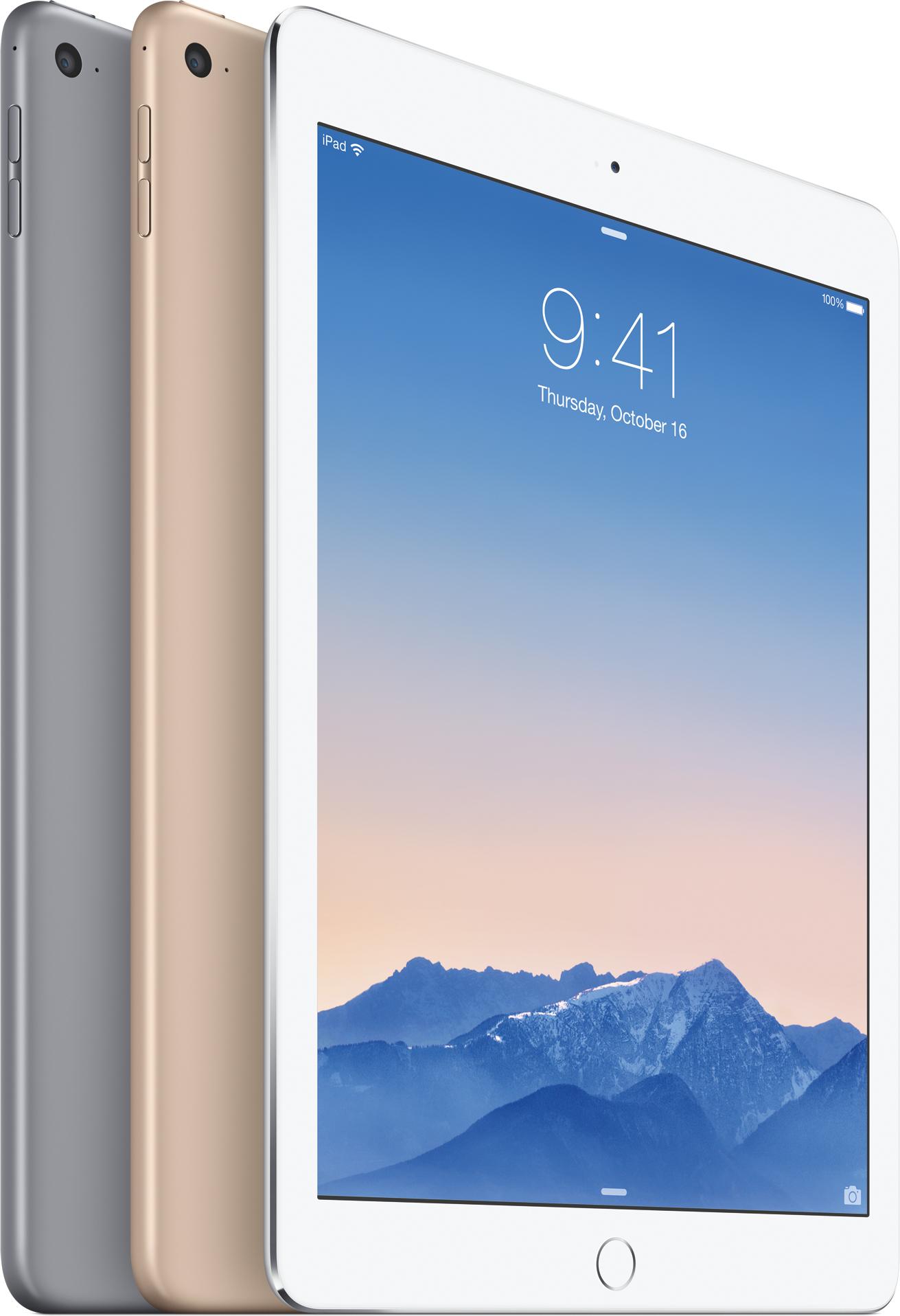 iPads Air 2 de pé e de lado