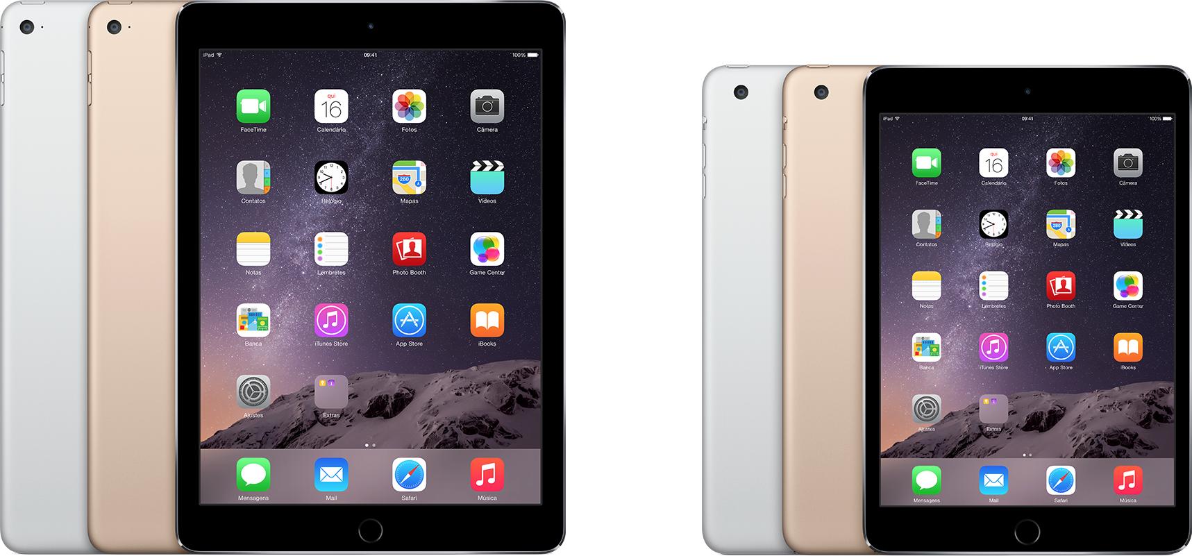iPads (Air 2 e mini 3)