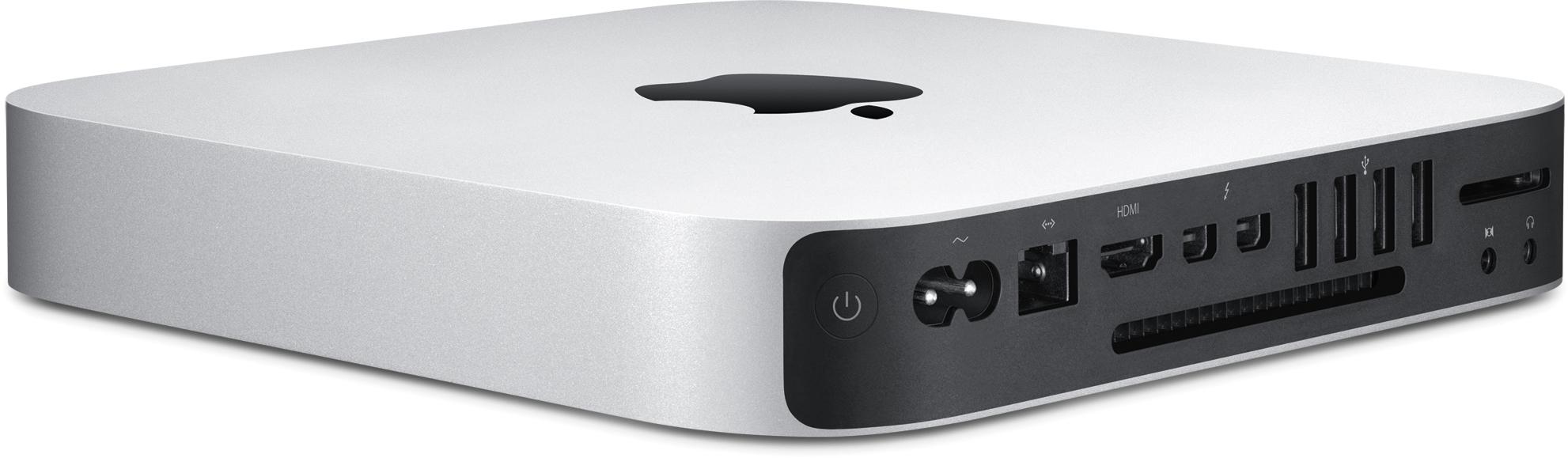 Novo Mac mini de frente e de trás