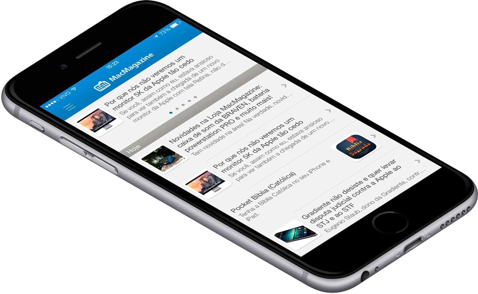MacMagazine 2.0.3 em iPhone 6