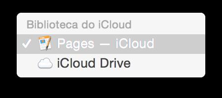 Trabalhando com arquivos no iCloud Drive