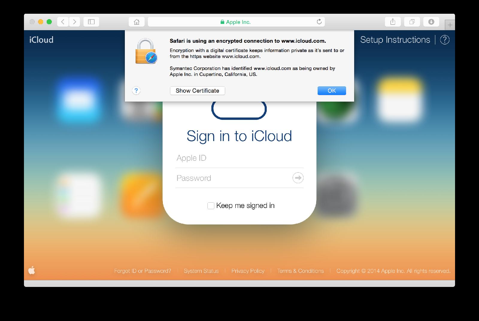 iCloud seguro