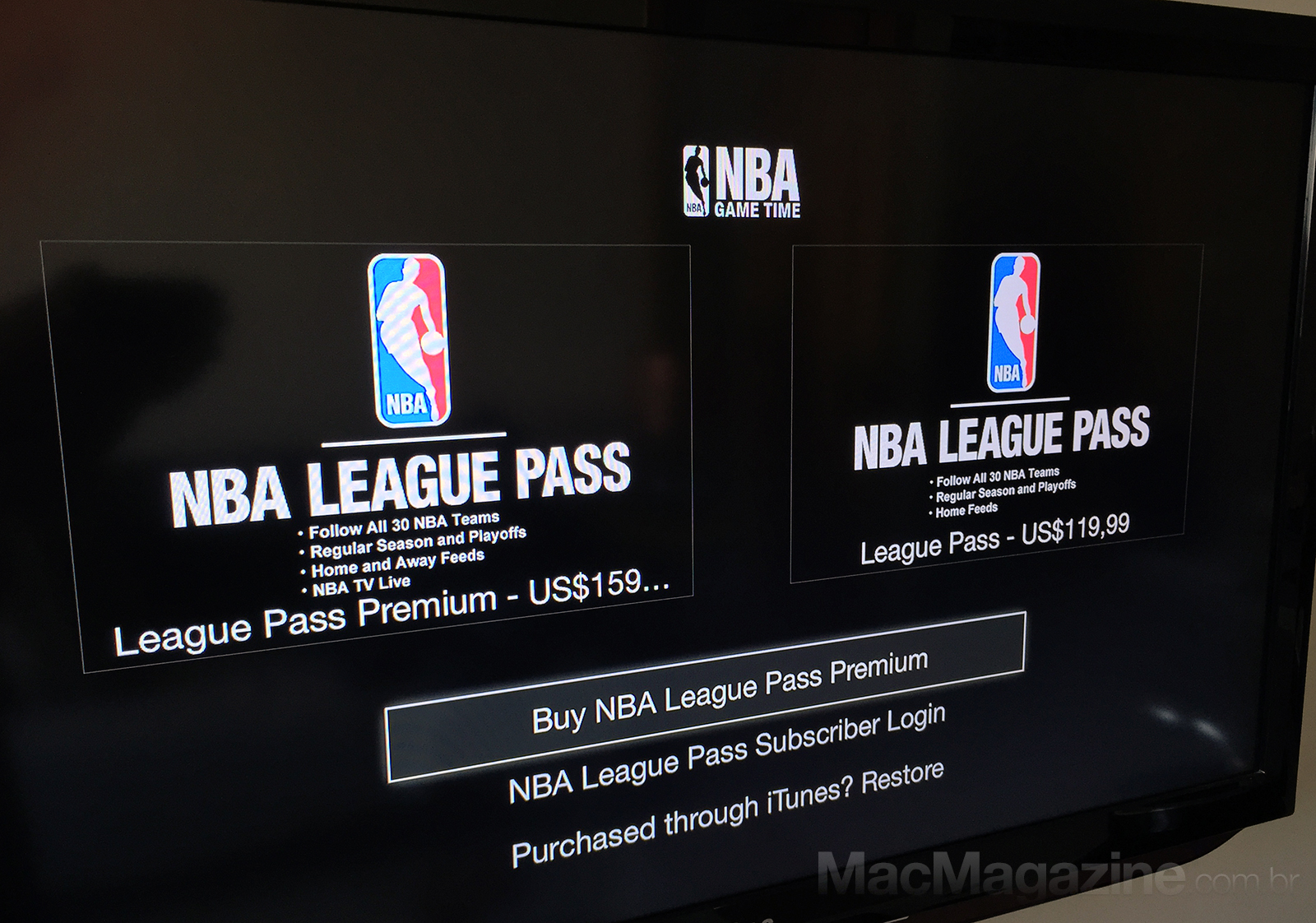 NBA na Apple TV brasileira