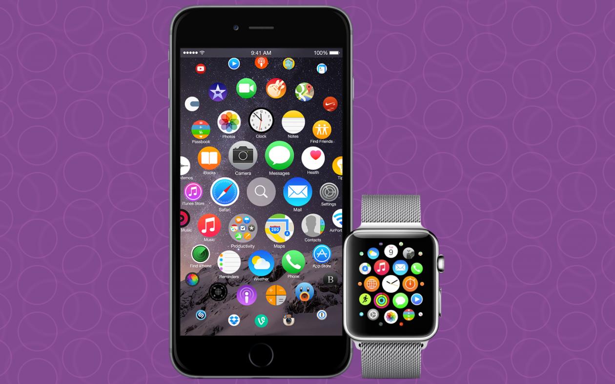 Tela de Início do iPhone baseada no Apple Watch