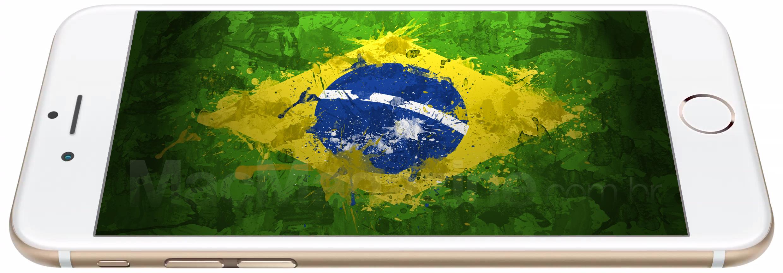 iPhone 6 com a bandeira do Brasil (by MacMagazine)