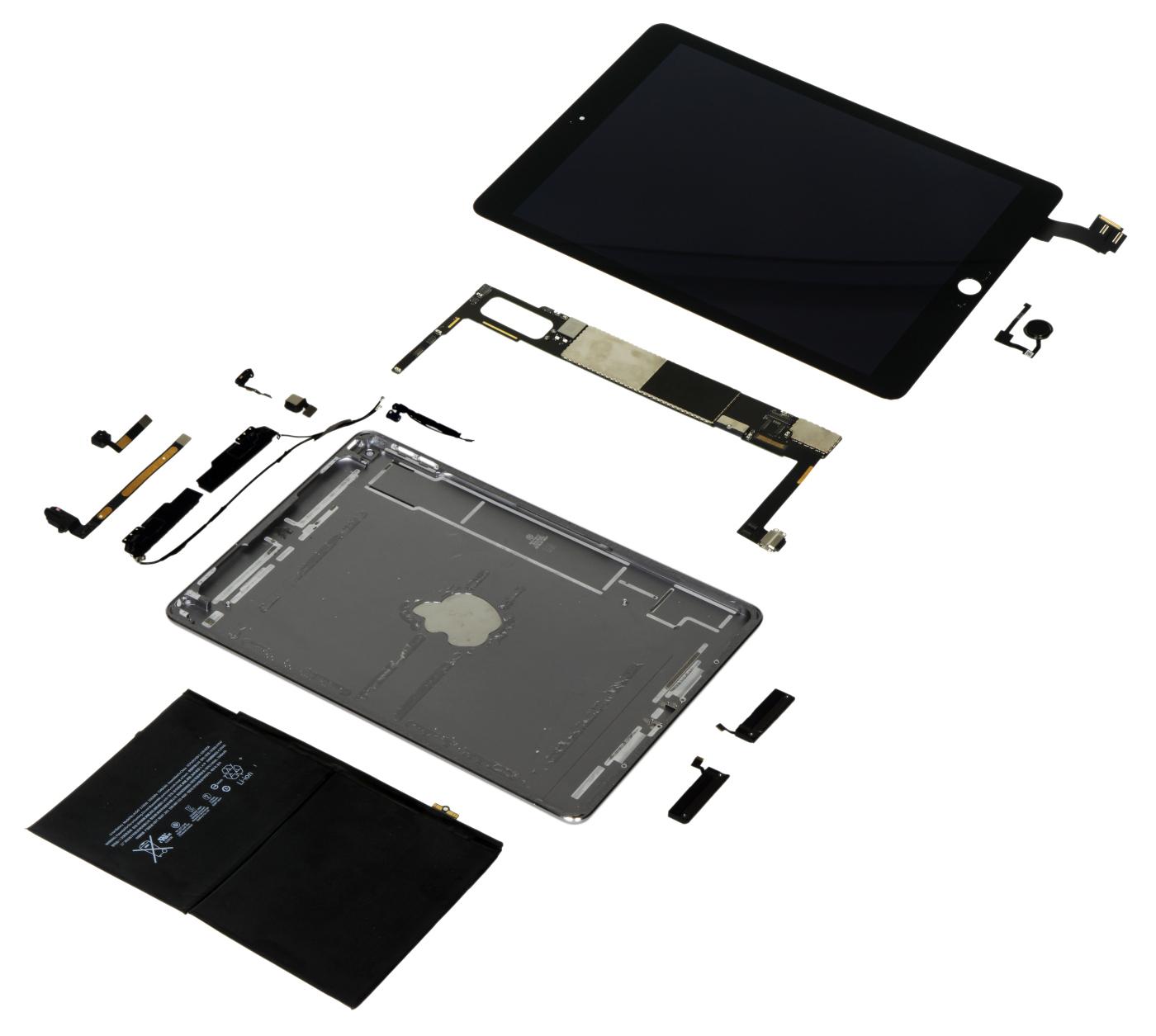 iPad Air 2 desmontado