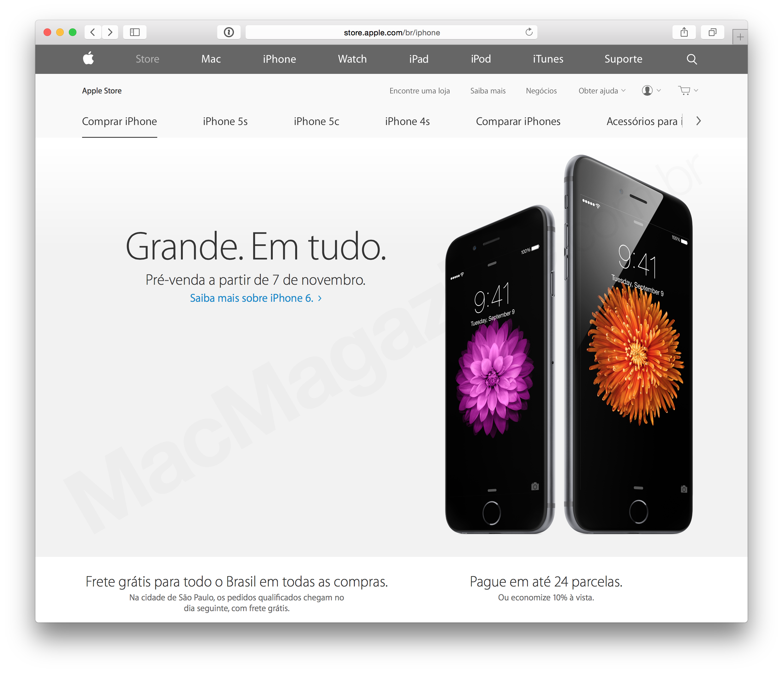 Pré-venda do iPhone 6