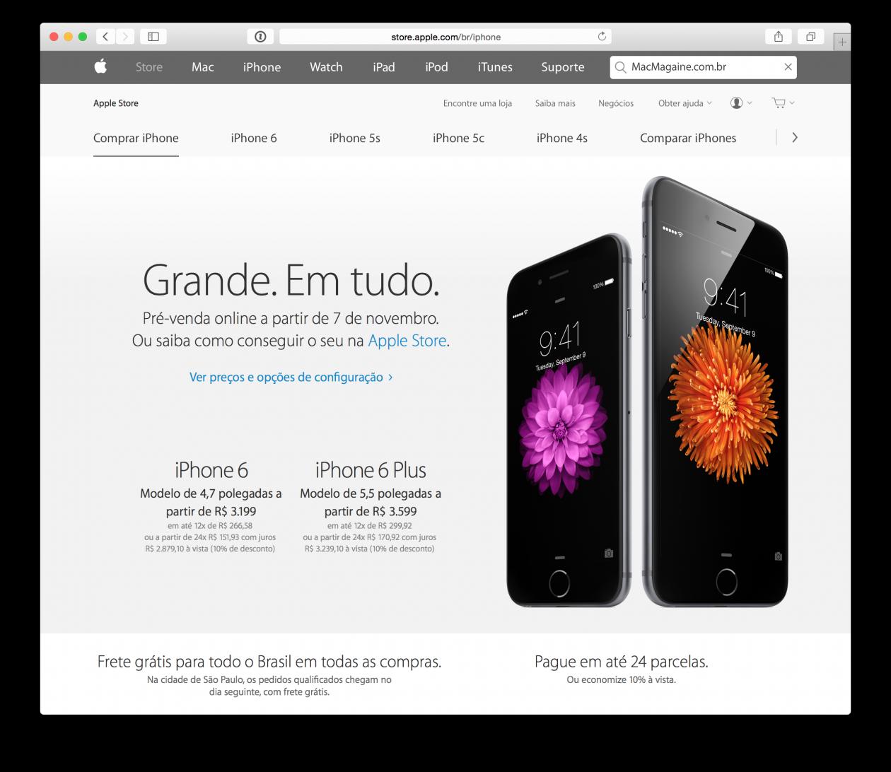 Pré-venda dos iPhones 6