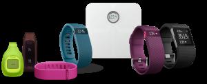 Família de produtos da Fitbit