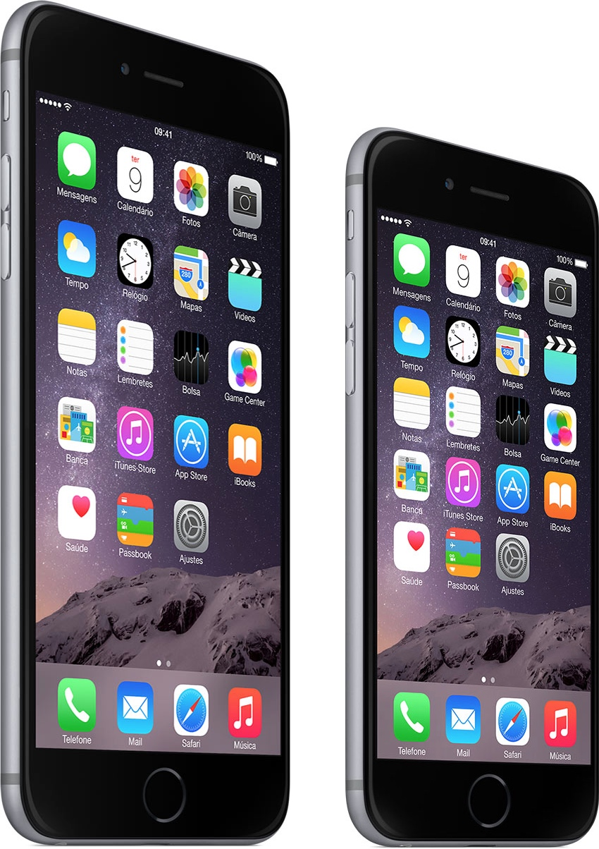 iPhones 6 e 6 Plus