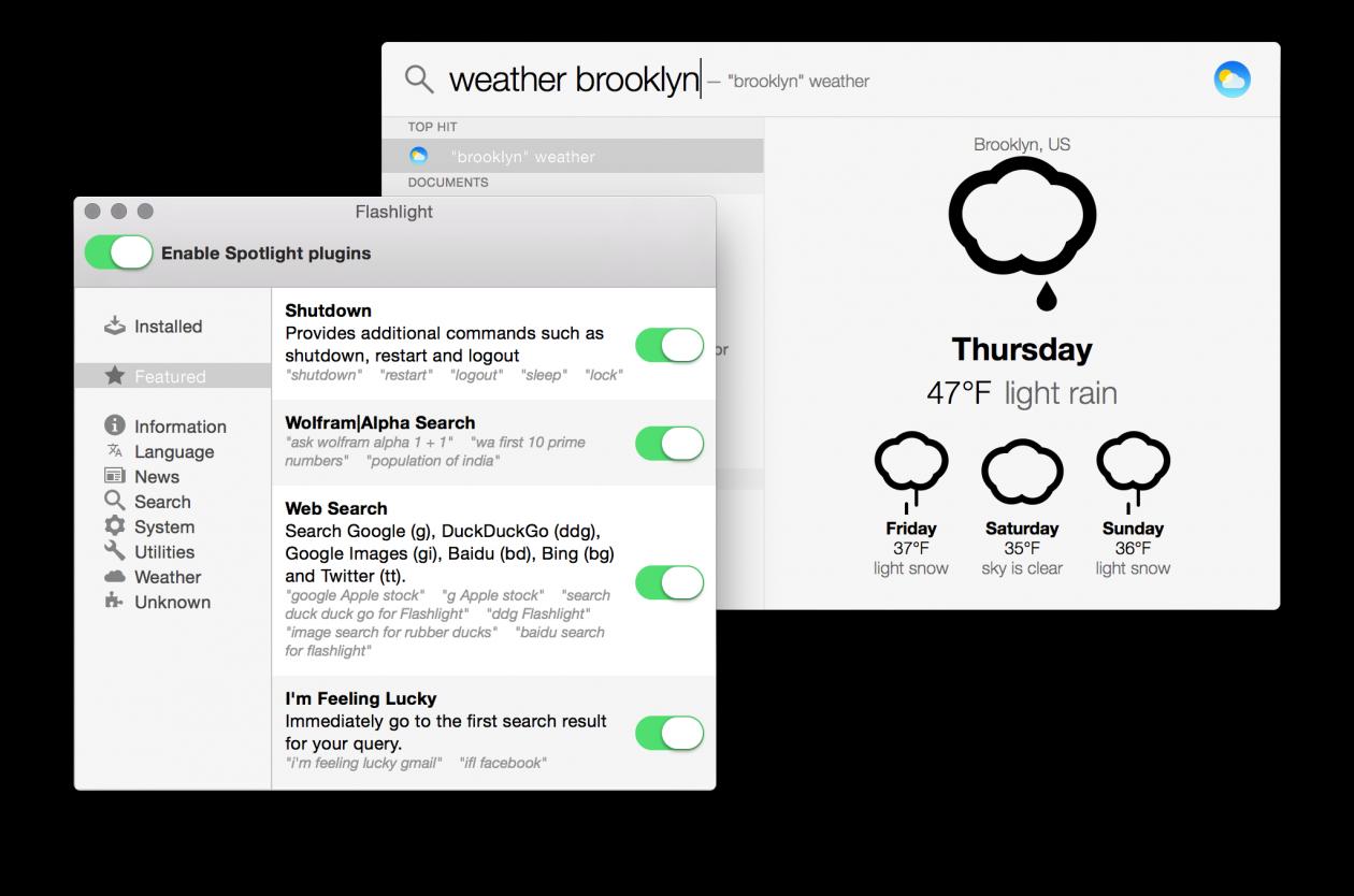 Flashlight turbina o Spotlight do OS X por meio de plugins