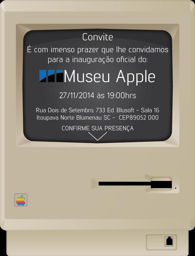 Convite - Museu Apple