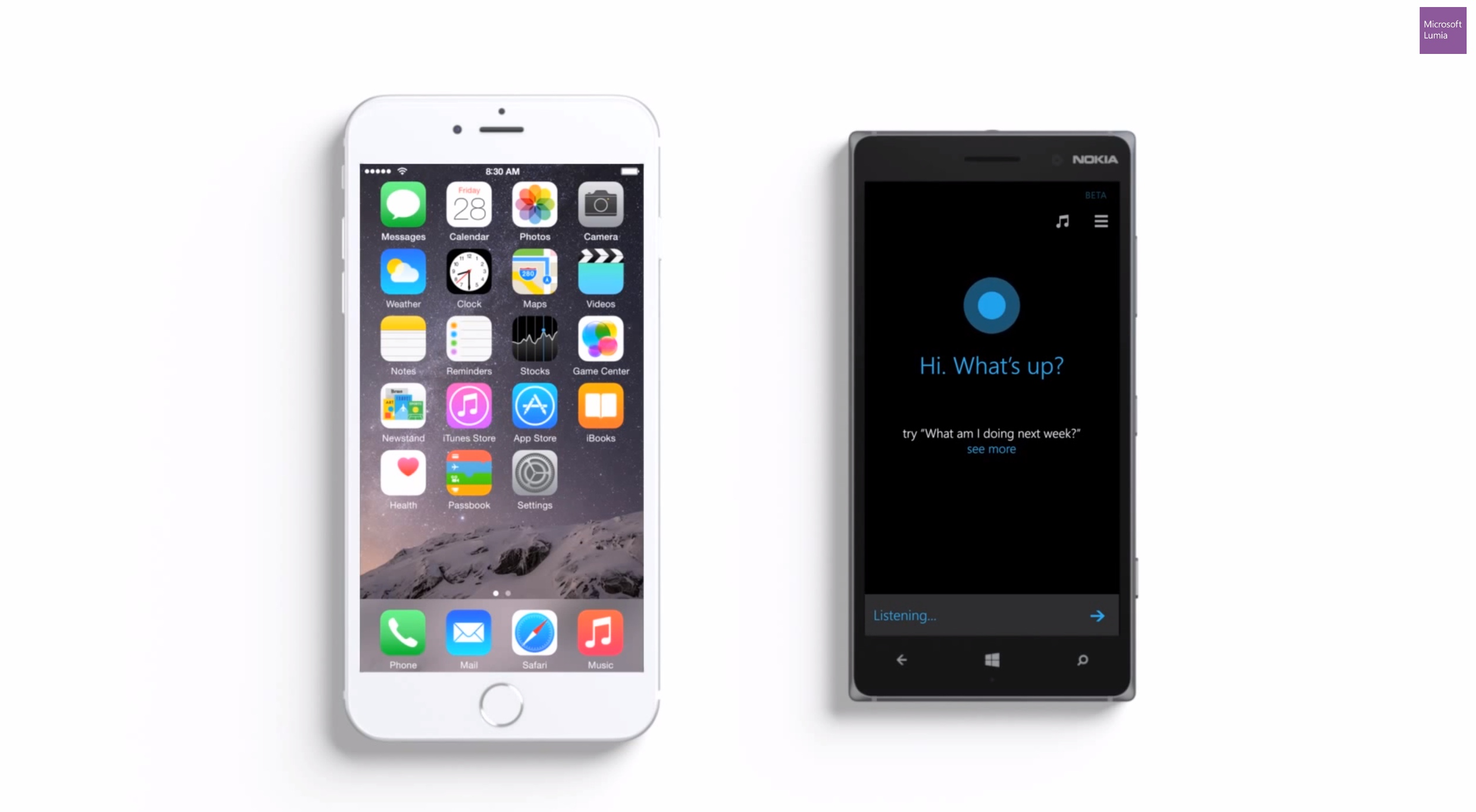Cortana vs. Siri em novo comercial da Microsoft
