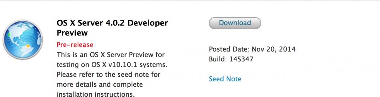 OS X Server 4.0.2 Developer Preview