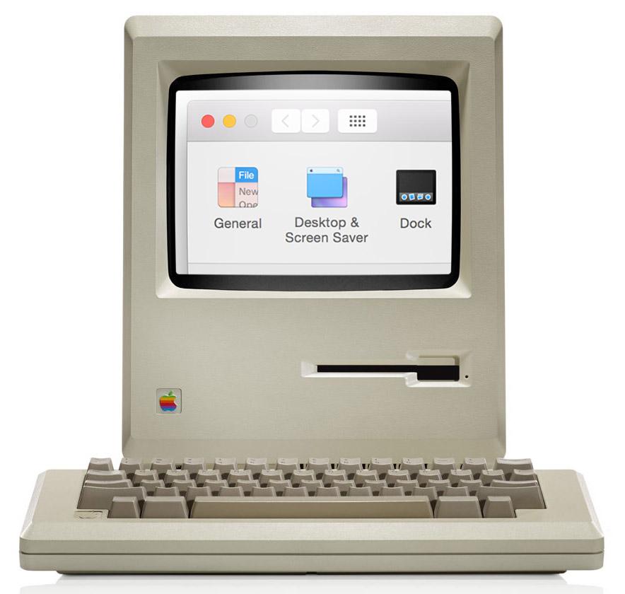 Macintosh vs. imagem Retina