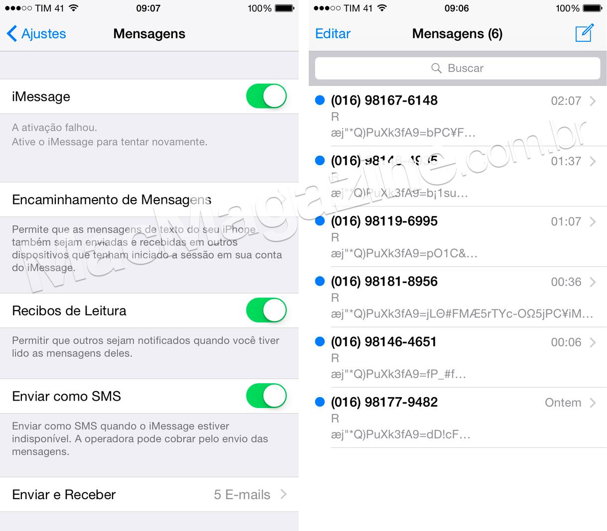 Ativação de iMessage e FaceTime na TIM
