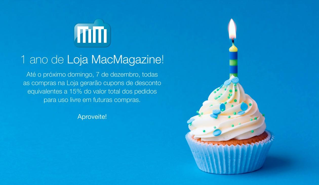 Um ano de Loja MacMagazine