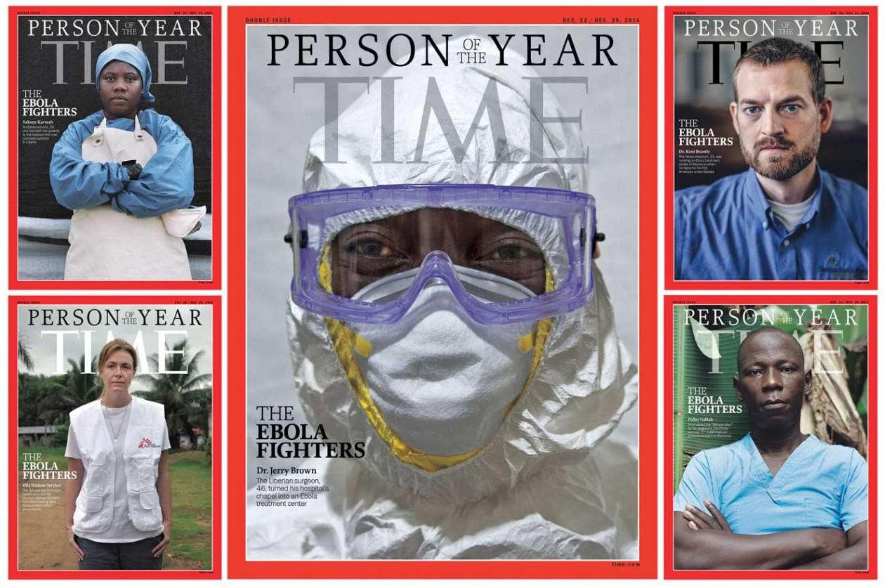 Revista TIME coloca combatentes do Ebola na capa