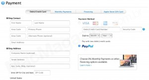 PayPal na Apple Online Store americana