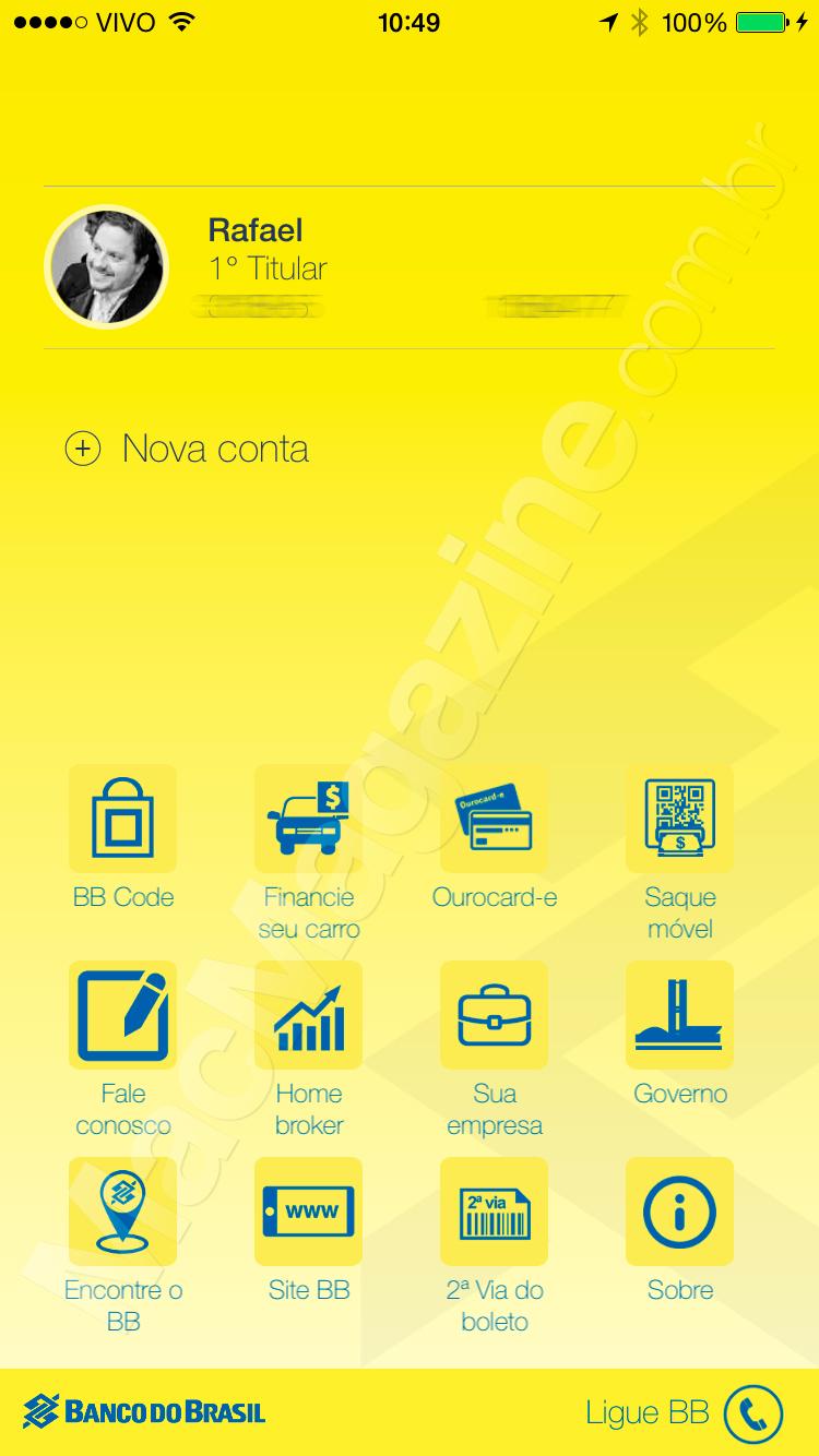 Nova versão do Banco do Brasil para iOS
