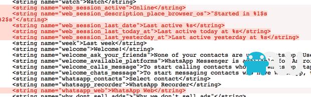 Referências ao WhatsApp Web