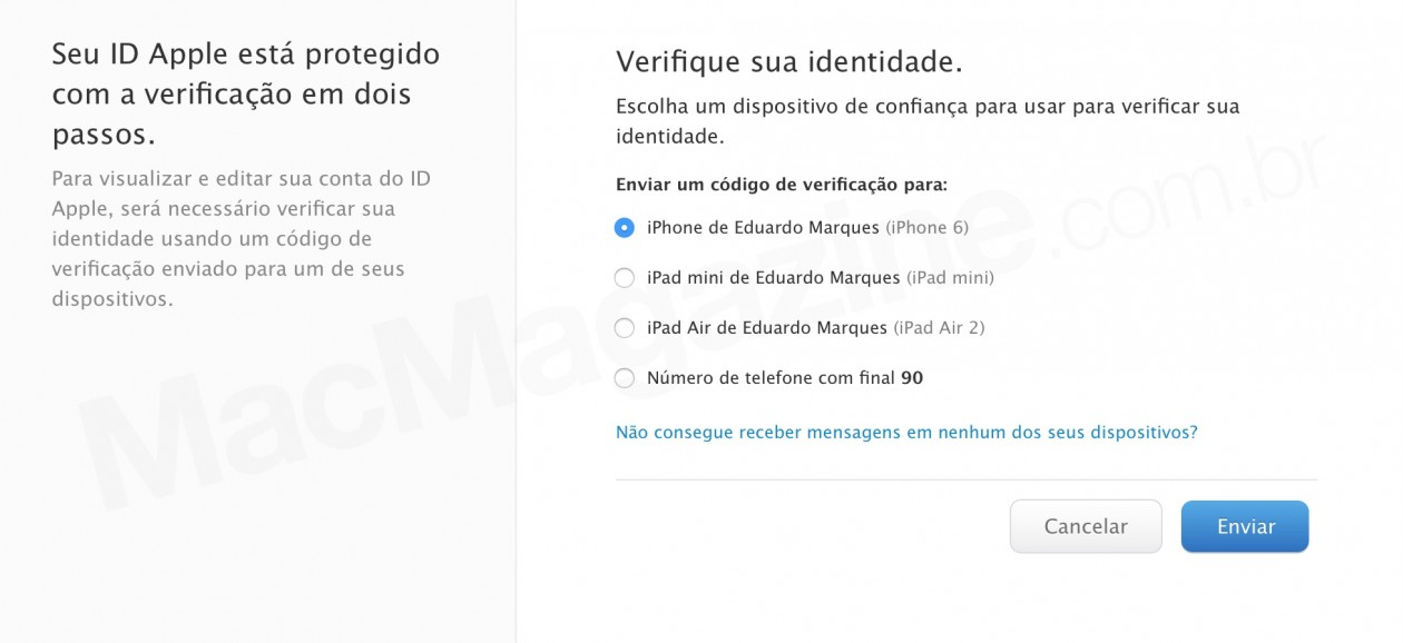 ID Apple com problemas