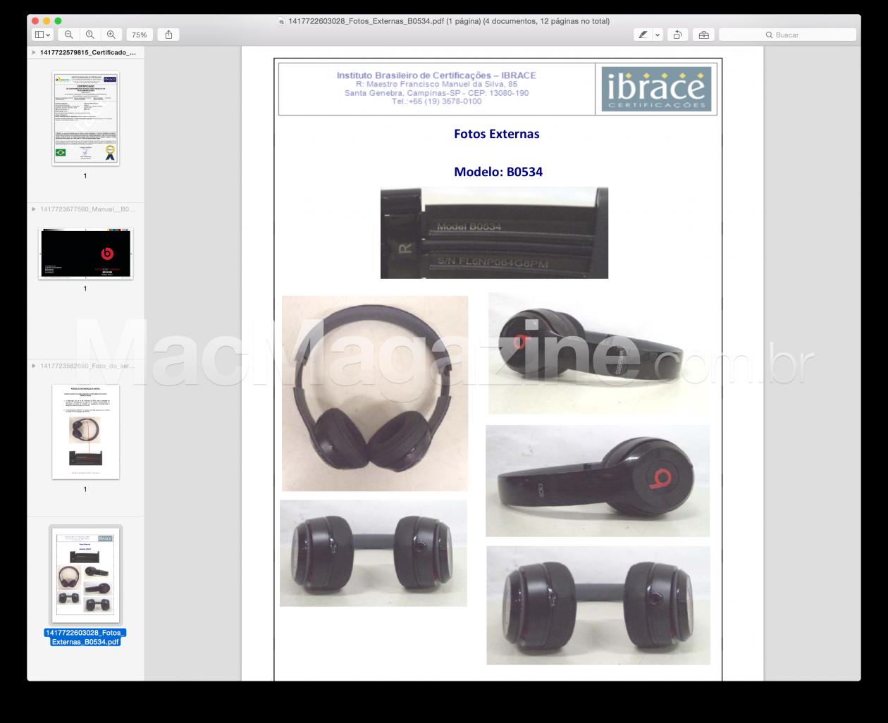 Anatel - Homologação do Beats Solo2 Wireless