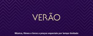 """Banner """"Verão"""", na iTunes Store"""